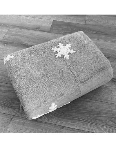 Коледно одеяло шерпа с две лица