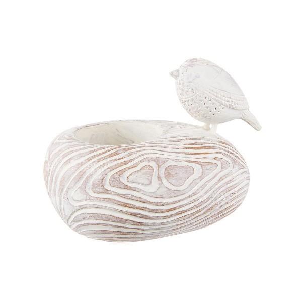 Свещник Лори за чаена свещ с птичка