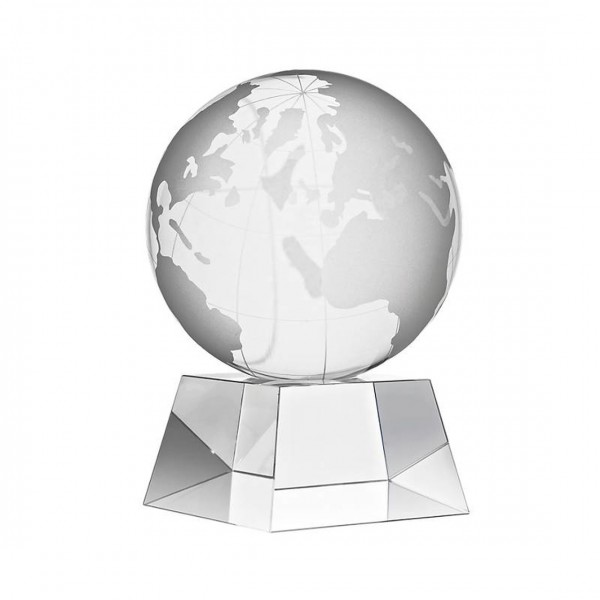 Стъклена статуетка Глобус Тарра