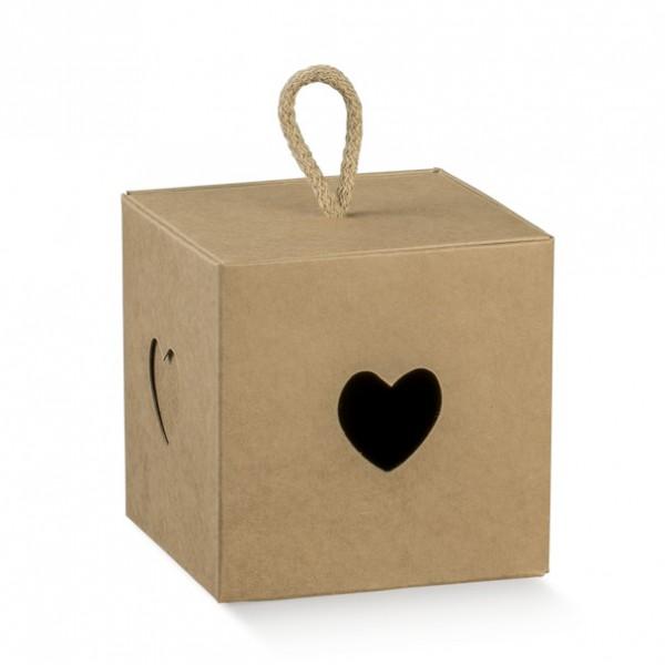 Кутия за подаръци за гости Сърце