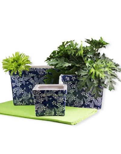 Керамична саксия Синя градина