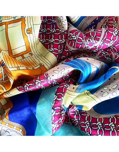 Дамски копринен шал Елинор 180 х 110 см