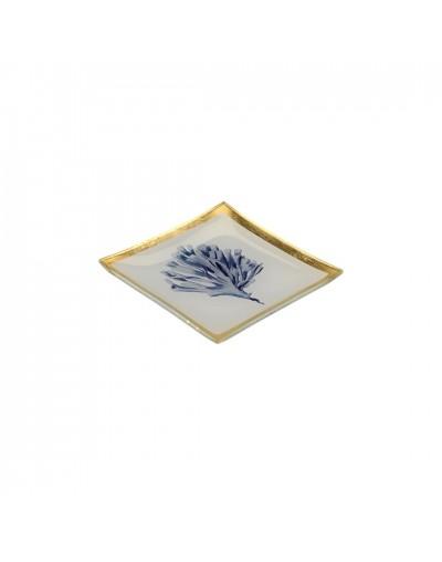 Стъклена чинийка с декорация Корал