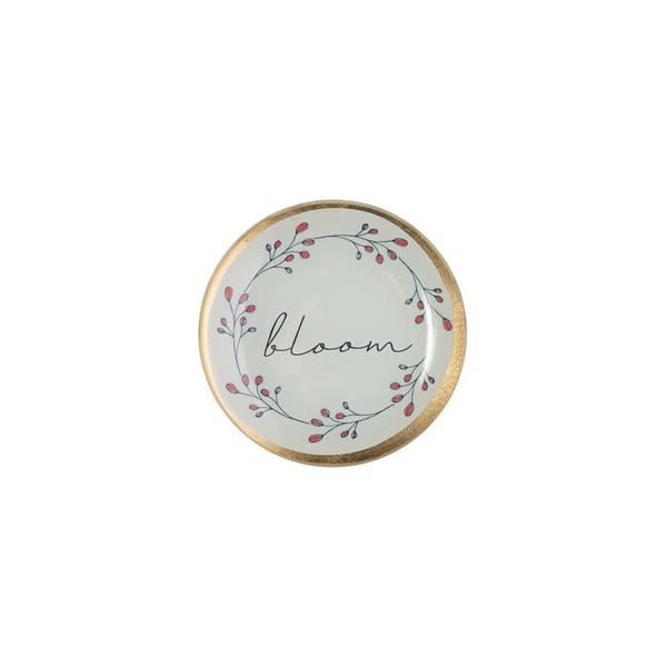 Стъклена чинийка с декорация Блум