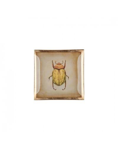 Стъклена чинийка с декорация Бръмбар
