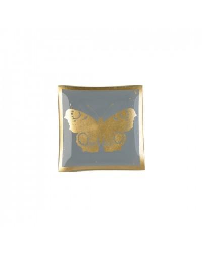 Стъклена чинийка с декорация Пеперуда