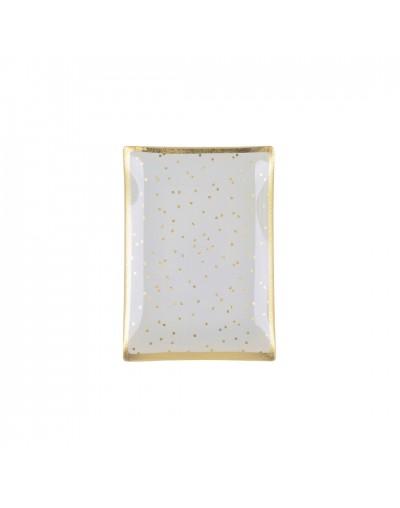 Стъклена чинийка с декорация Голд
