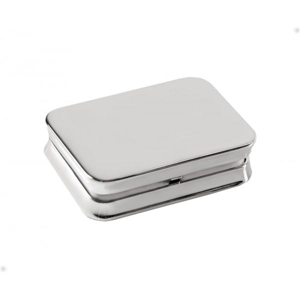Посребрена кутийка за лекарства Плано