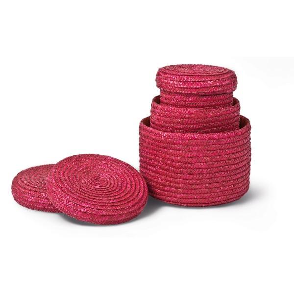 Плетена кутия с капак