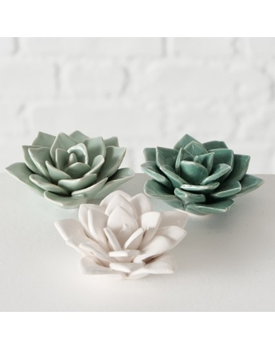 Керамични цветя Сатина за декорация
