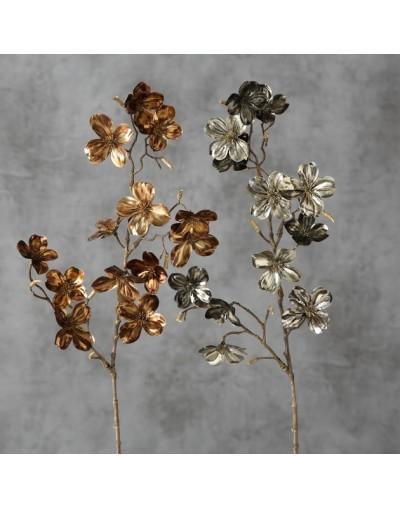 Клонче със сребърни цветя