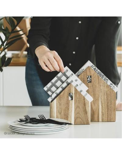 Дървена къща за салфетки