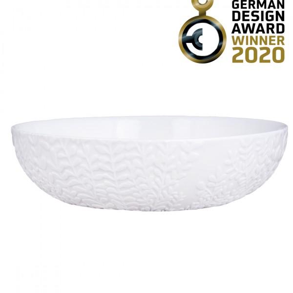 Бяла порцеланова купа Ранкен