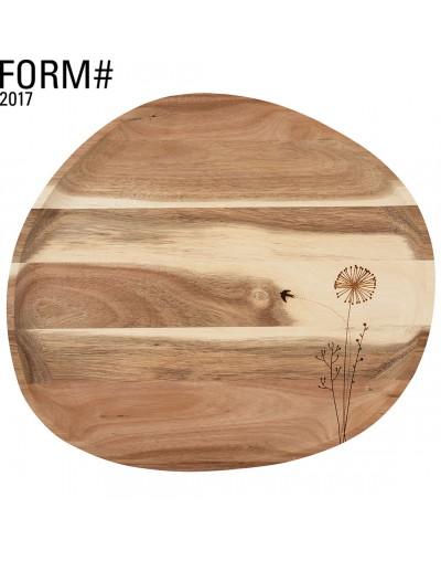 Дървен поднос Глухарче