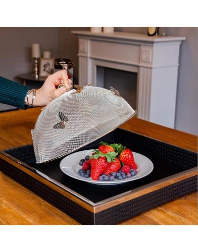 Посребрен мрежест капак за покриване на храна