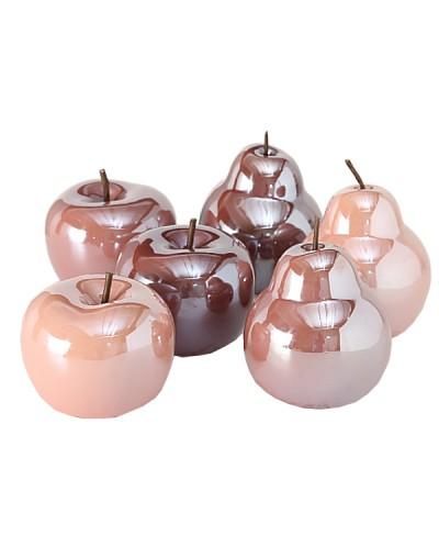 Керамични плодове - ябълка и круша за декорация
