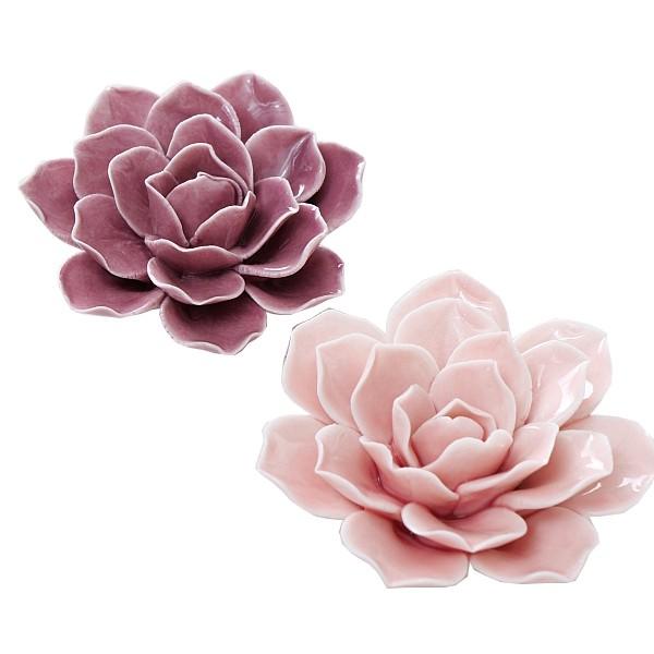 Комплект керамични цветя роза за декорация