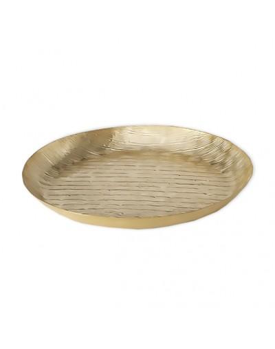 Кръгъл златен поднос Шайн
