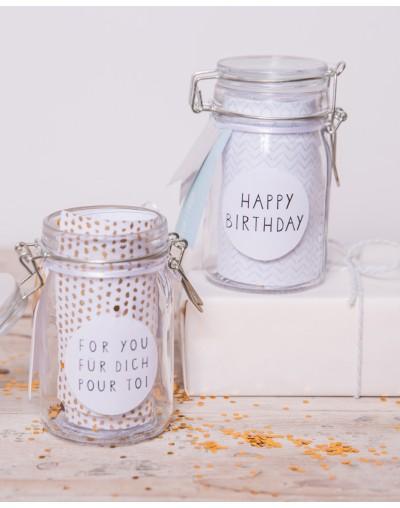 Буркан с конфети Честит рожден ден