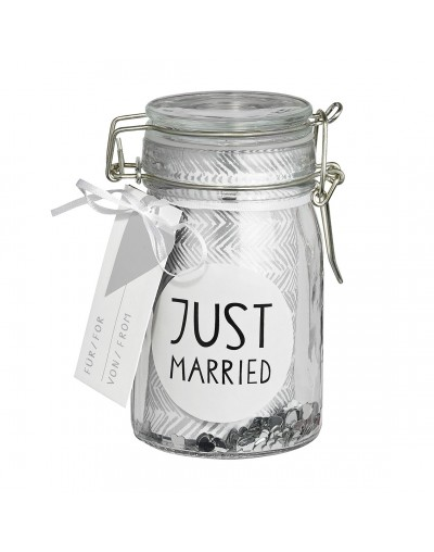 Буркан за сватбени пожелания с конфети