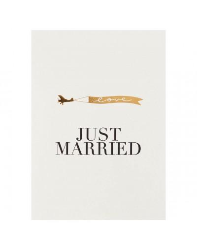 Сватбена картичка Just Married