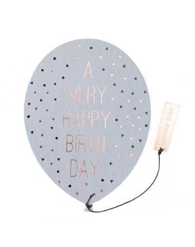 Картичка-балон за рожден ден