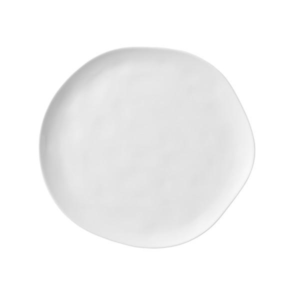 Бяла порцеланова гурме чиния за хранене