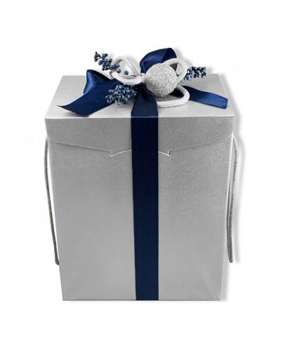 Подарък Сребърна Коледа с шампанизирано вино