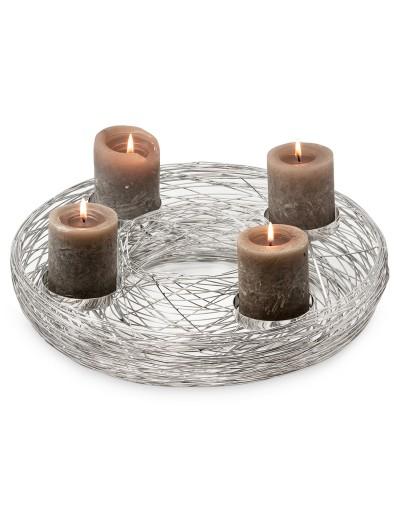 Декоративен метален венец - свещник