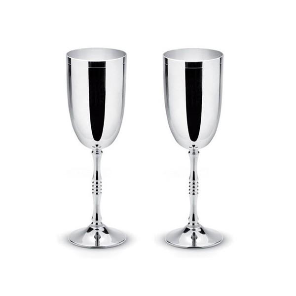 Посребрени чаши за шампанско Ригато