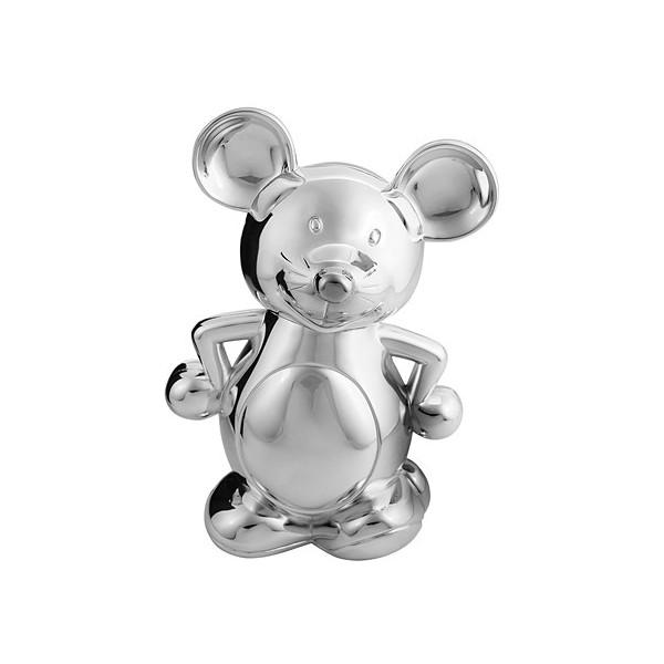 Посребрена касичка Мишка