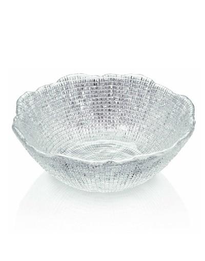 Стъклена купа за салата Диаманте