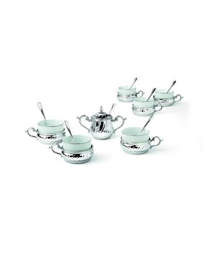 Посребрен сет за чай