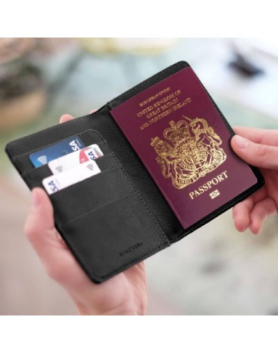 Калъф за паспорт Блек