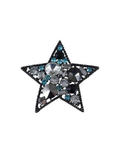 Брошка Звезда Тюркоаз