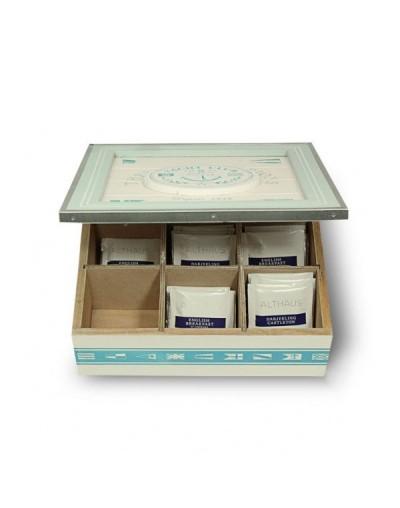 Кутия за чай с морска декорация