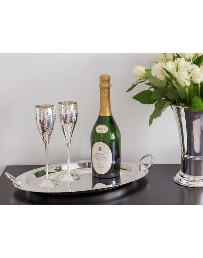 Комплект от две посребрени чаши за шампанско Додо
