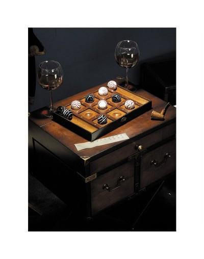 Венециански морски шах в кутия от дърво - автентичен модел