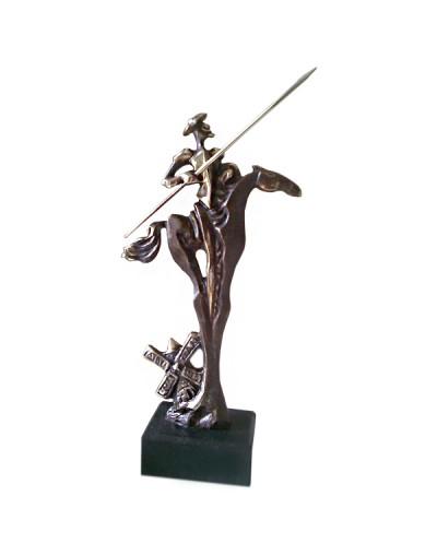 Авторска статуетка Дон Кихот и мелницата