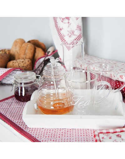 Стъклен съд за мед с бъркалка