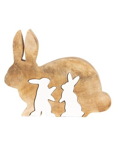 Зайци от дърво за декорация