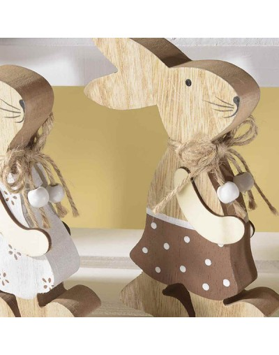 Великденски декоративен заек от дърво
