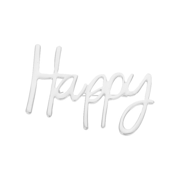 Брошка с надпис Happy