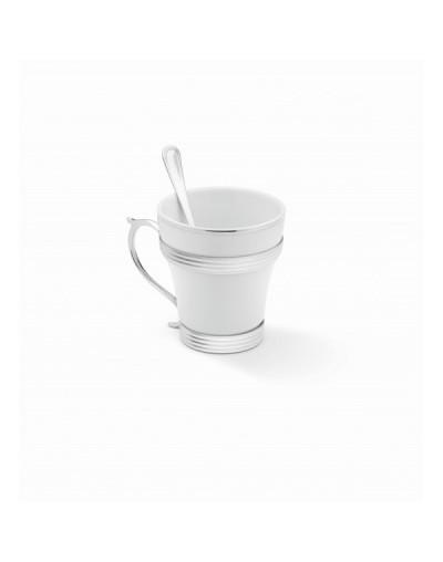 Сет Елеганте - чаша за чай и лъжичка
